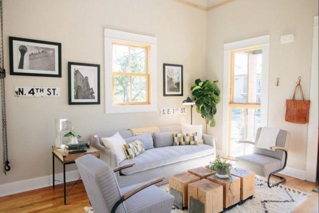 Không gian lộn xộn và bề bộn do bị bỏ hoang lâu ngày hoàn toàn thay đổi bởi lối thiết kế ấm áp kèm theo nội thất đẹp