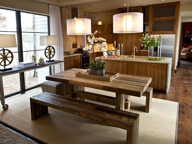 Trang trí nhà đẹp ấm cúng nhờ gỗ