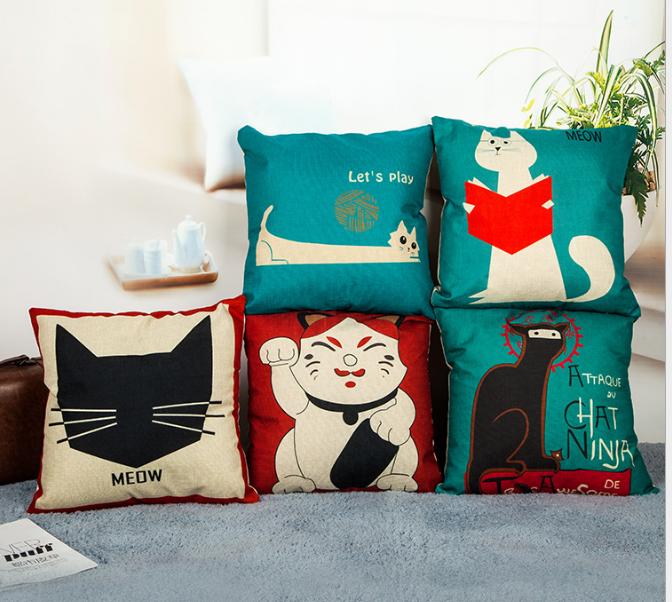 Đồ trang trí phòng khách - Bộ gối sofa phòng khách đẹp sắc màu