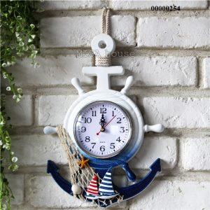 Đồng hồ treo tường hình mỏ neo chủ đề biển