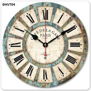 Đồng hồ treo tường vintage cổ điển đẹp, độc đáo, đơn giản - ĐHVT04