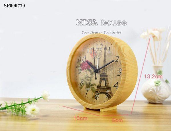Đồng hồ báo thức để bàn hình tháp eiffen