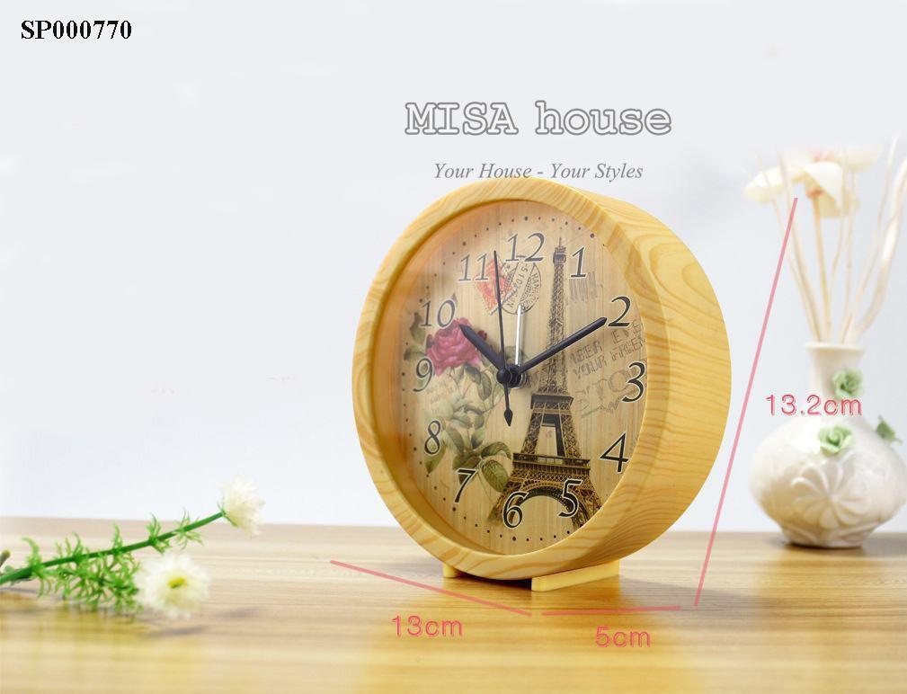 Đồng hồ báo thức để bàn hình tháp eiffen 1