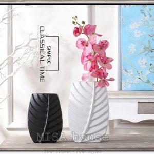 Bộ bình gốm sứ chiếc lá độc đáo - bộ bình gốm sứ nghệ thuật đẹp