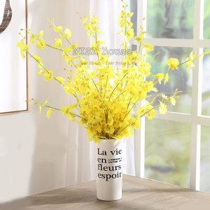 Cành hoa lan vũ nữ đẹp - bình hoa giả trang trí nhà đẹp