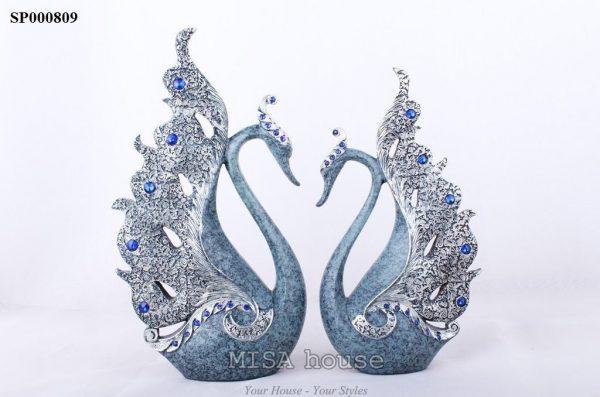 Cặp thiên nga bạc họa tiết siêu đẹp trang trí nhà – quà tặng tân gia ý nghĩa