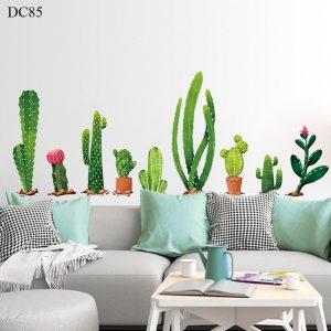 Tranh dán tường hình cây xương rồng tropical hiện đại - decal dán tường trang trí đẹp giá rẻ