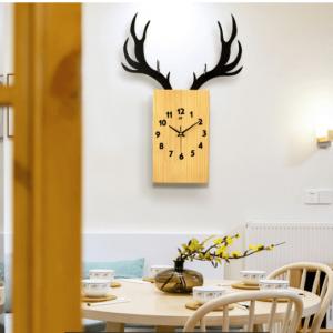 Đồng hồ hình hươu treo tường đồng hồ nghệ thuật đẹp độc đáo