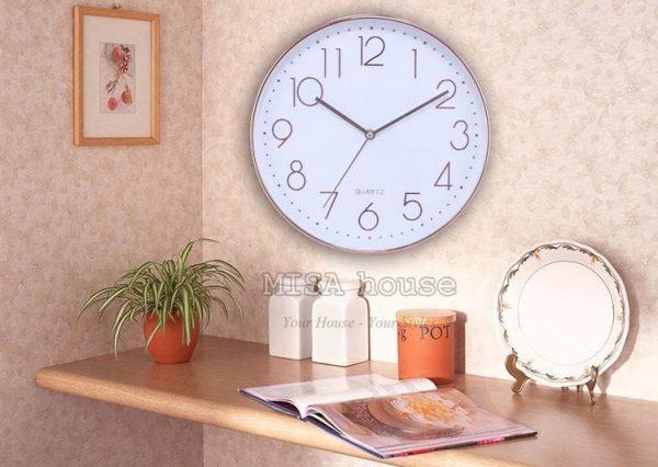 Đồng hồ treo tường hiện đại đơn giản đẹp 01