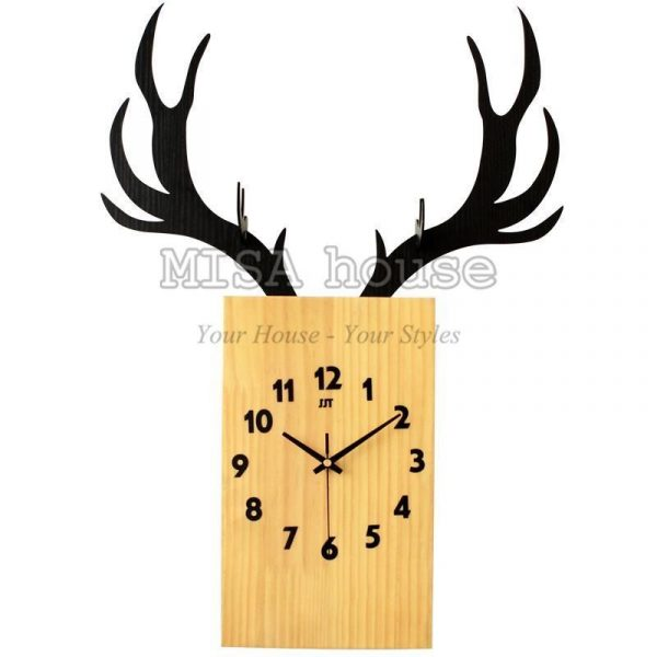 Đồng hồ treo tường nghệ thuật hình hươu – đồng hồ treo tường nghệ thuật đẹp độc lạ quà tặng tân gia ý nghĩa