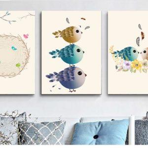 Tranh treo tường nghệ thuật đẹp hình chim