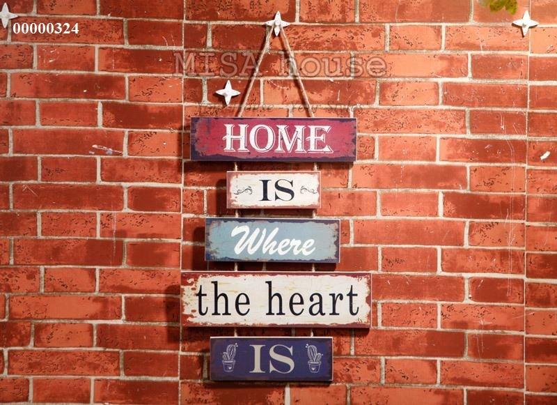 Bảng gỗ câu nói ý nghĩa về gia đình đồ trang trí phong cách vintage