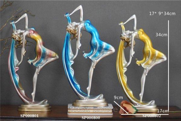 Cô vũ công múa lụa – đồ trang trí nhà đẹp quà tặng tân gia