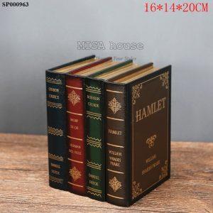 Giả sách đựng bút vintage Hamlet - đồ trang trí phong cách vintage