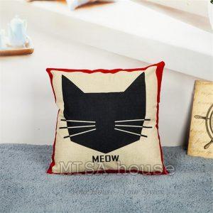 Vỏ gối sofa gối hình mèo đen cách điệu