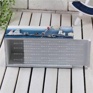 Hộp đựng khăn giấy gỗ 01- đồ trang trí chủ đề biển