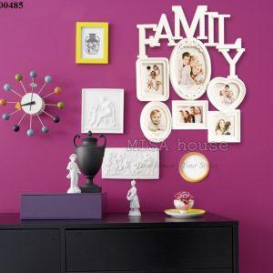 Khung ảnh gia đình đẹp - khung ảnh treo tường gia đình chữ Family