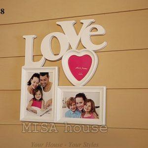 Khung ảnh gia đình đẹp - khung ảnh treo tường đẹp Love