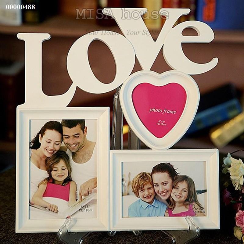Khung ảnh gia đình đẹp - khung ảnh treo tường chữ Love