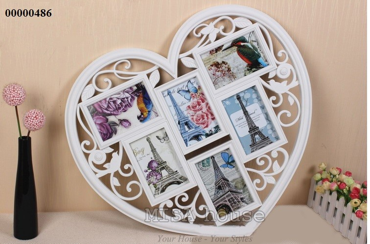 Khung ảnh gia đình đẹp – khung ảnh treo tường lớn hình trái tim
