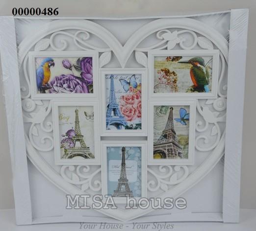 Khung ảnh gia đình đẹp - khung ảnh treo tường cỡ lớn hình trái tim