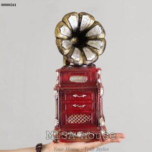 Mô hình loa đỏ giả cổ vintage- đồ trang trí phong cách vintage đẹp lạ