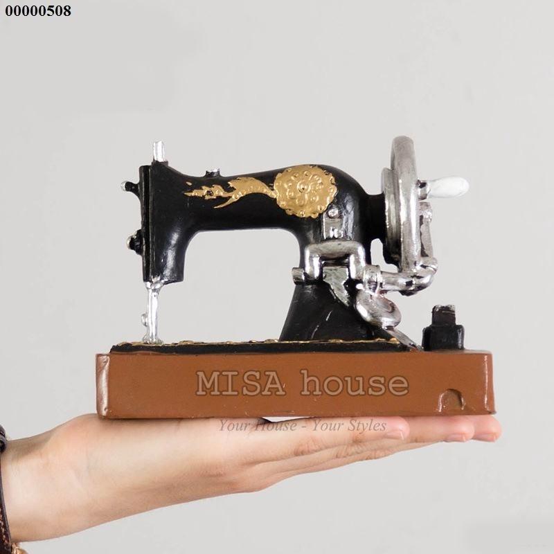 Mô hình máy may giả cổ phong cách vintage