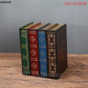 Mô hình sách giả trang trí giả cổ - đồ trang trí phong cách vintage đẹp - hộp đựng đồ