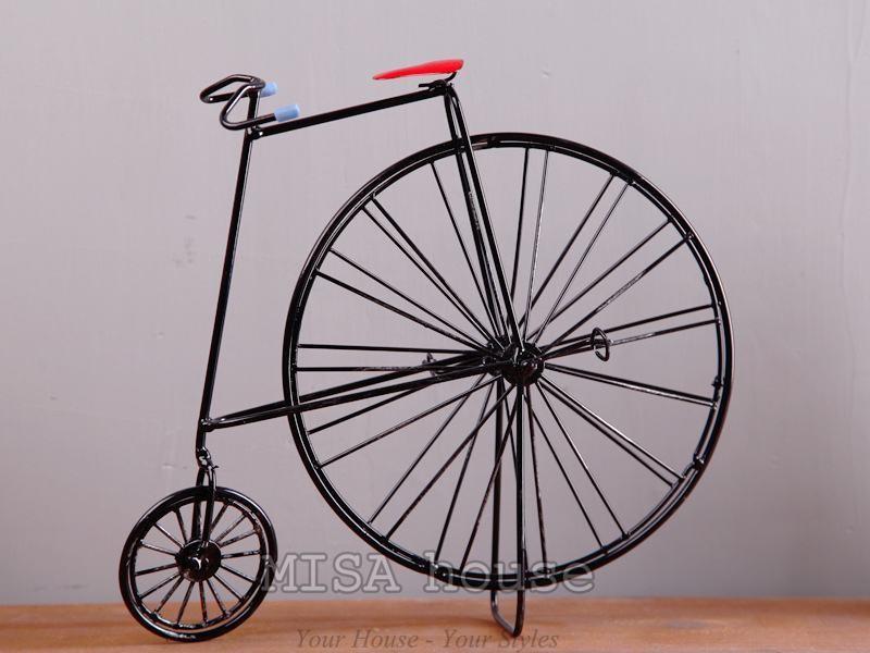 Mô hình xe đạp cách điệu trang trí - đồ trang trí phong cách vintage độc đáo đẹp trang trí tủ kệ