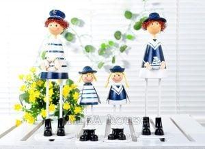 Bộ gia đình hải quân gỗ đứng - đồ trang trí phòng khách, trang trí tủ kệ đẹp