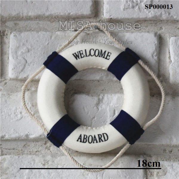 Phao welcome màu xanh trang trí - đồ trang trí chủ đề biển