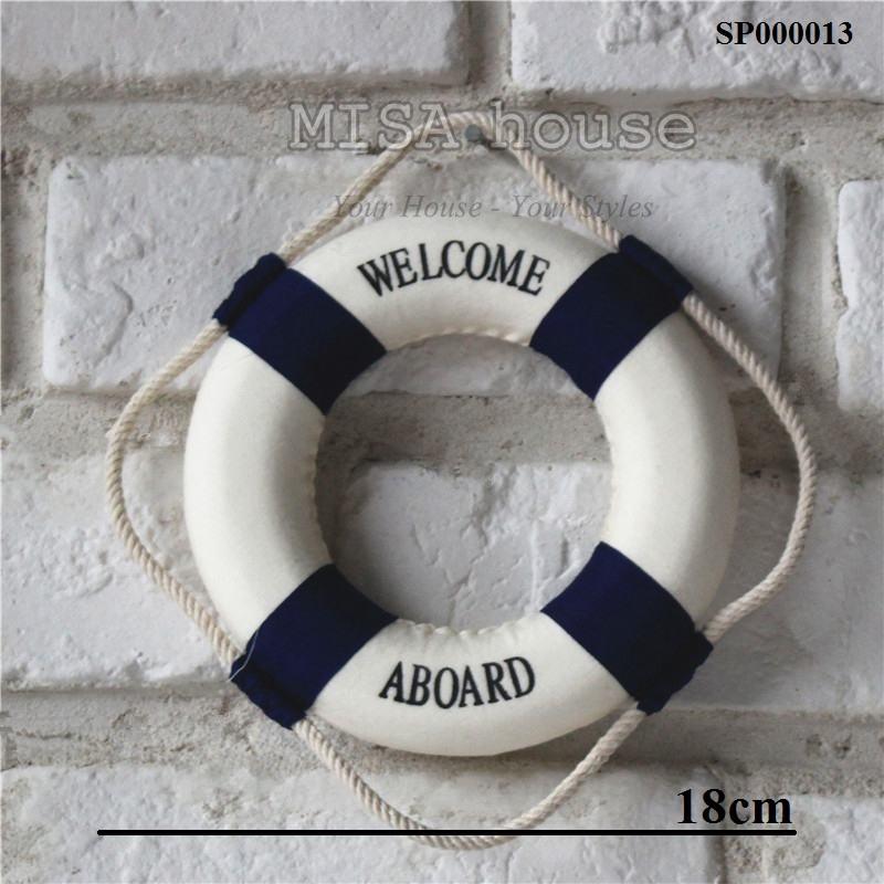 Phao welcome màu xanh trang trí – đồ trang trí chủ đề biển