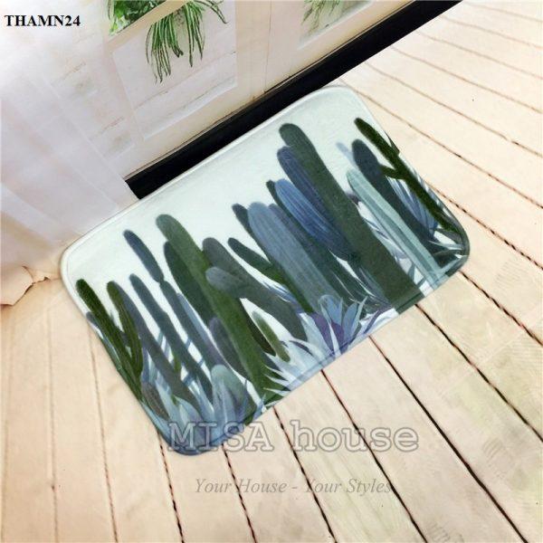 Thảm chân phòng khách hình cây xương rồng – đồ trang trí nhà phong cách thiên nhiên