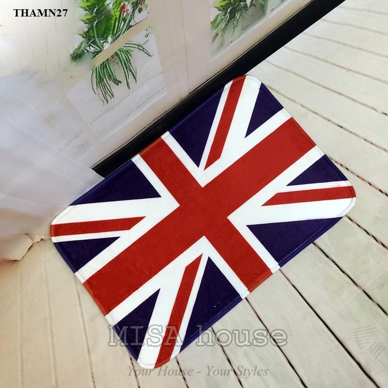 Thảm chân phòng khách hình cờ Anh