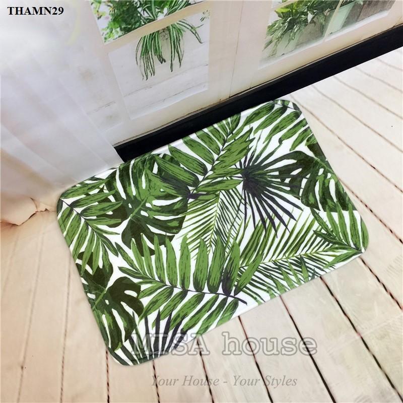 Thảm chân phòng khách hình cây cọ – đồ trang trí nhà phong cách thiên nhiên