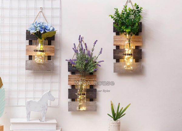 Bộ 3 bảng gỗ thủy tinh vintage 4 mùa xuân hạ thu đông – treo tường trang trí nhà, cửa hàng, quán cafe, spa đẹp độc lạ