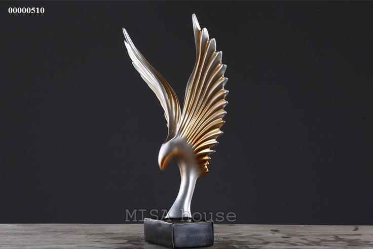Đại bàng lửa vàng cao cấp trang trí tủ kệ đẹp sang trọng -quà tặng tân gia ý nghĩa