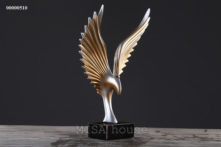 Đại bàng lửa vàng cao cấp trang trí tủ kệ đẹp sang trọng -quà tặng tân gia đẹp