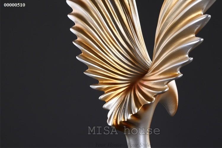 Chi tiết chim đại bàng lửa vàng cao cấp trang trí tủ kệ đẹp sang trọng -quà tặng tân gia
