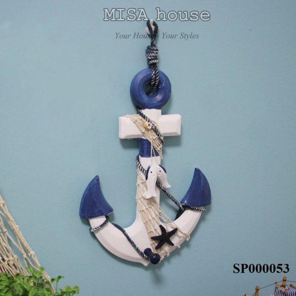 Mỏ neo trang trí chủ đề biển đẹp – đồ trang trí treo tường phong cách địa trung hải