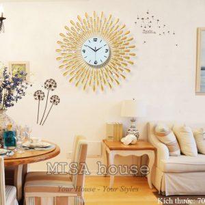 Đồng hồ treo tường giọt nước size lớn 70cm trang trí phòng khách cao cấp