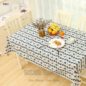 Khăn trải bàn đẹp hình chiếc lá viền ren phong cách vintage siêu xinh