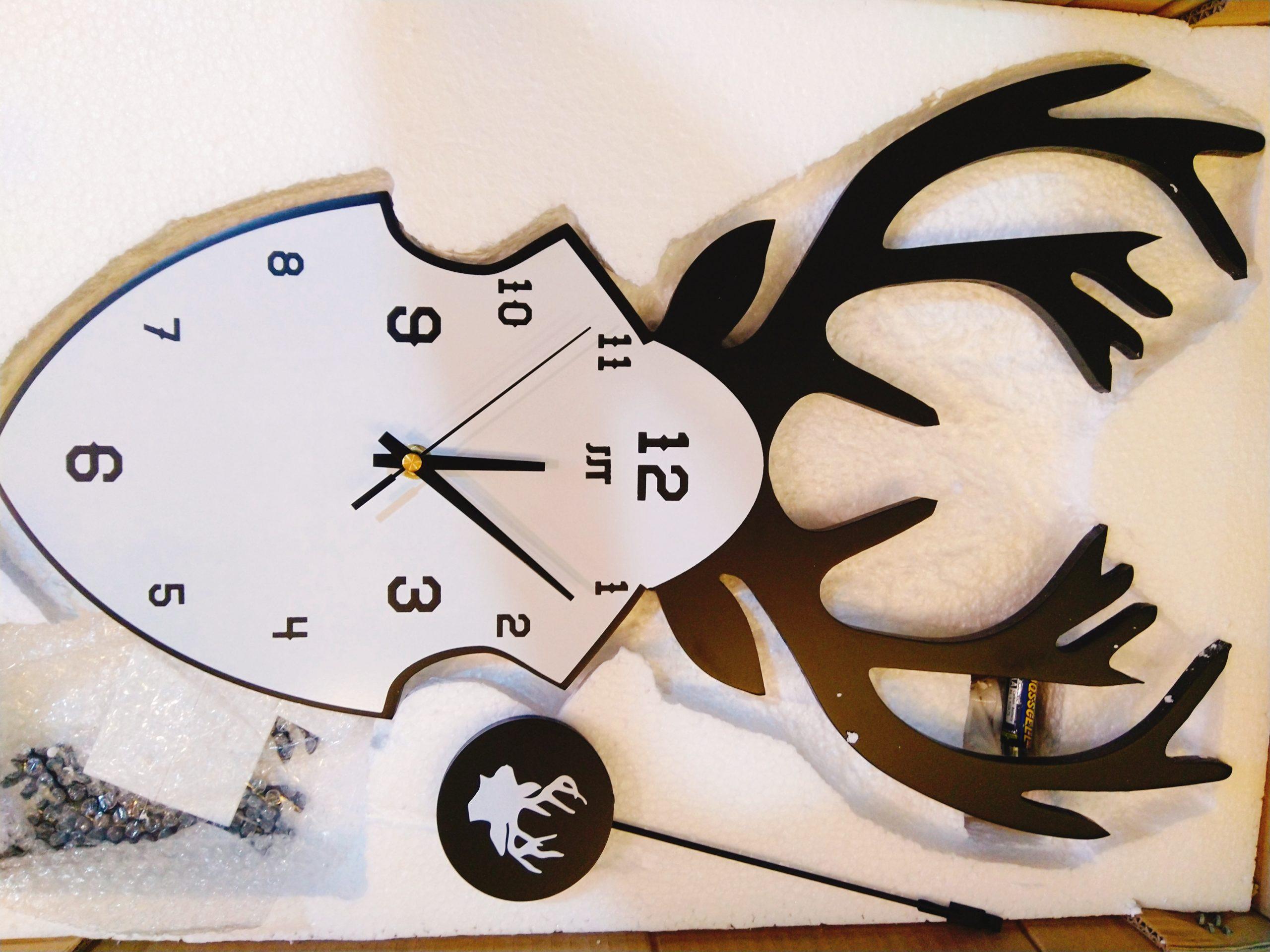 Đồng hồ treo tường đầu hươu