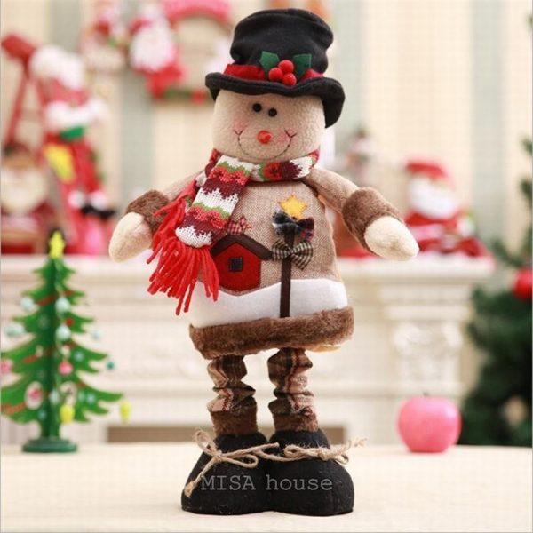 Người tuyết noel đứng size lớn cao 58cm – đồ trang trí noel đẹp