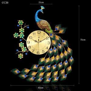 Đồng hồ công hoa xanh đuôi rũ sang trọng cực đẹp - quà tặng tân gia cao cấp