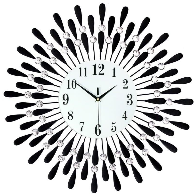 Đồng hồ treo tường giọt nước màu đen size 60cm siêu đẹp trang trí - quà tặng tân gia được yêu thích