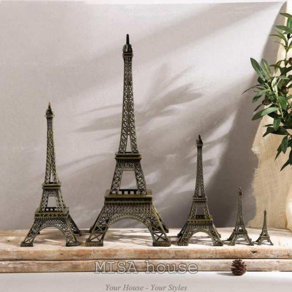 Bộ mô hình Tháp eiffel – Paris phong cách vintage trang trí