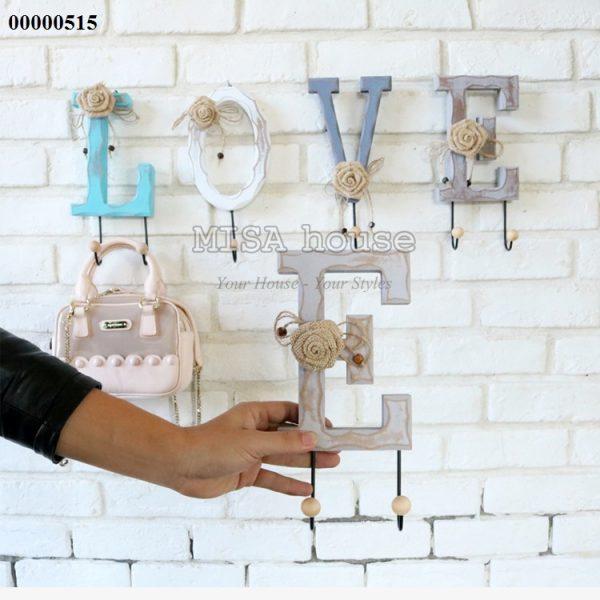 Kích thước Móc treo đồ chữ Love gỗ vintage cách điệu đẹp – trang trí tường đẹp độc lạ