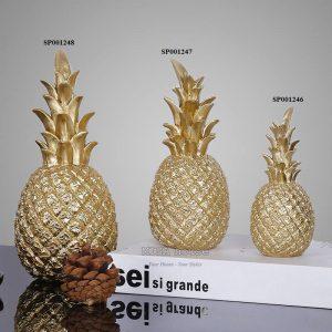 Bộ 3 Trái thơm cách điệu mạ vàng đồ decor trang trí hiện đại sang trọng - đồ trang trí đẹp độc đáo