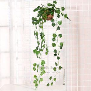 Bụi Cây leo giả trang trí tường đẹp giá rẻ tại TPHCM hình lá diêu bông vải- Hoa lá giả decor trang trí